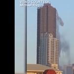 Videó: a földrengés miatt úgy zúdult le a víz a felhőkarcolóról, mintha vízesés lenne