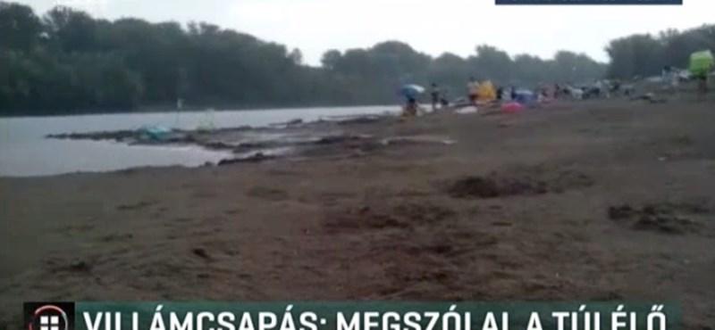 Megszólalt a nő, akibe villám csapott nyáron a csongrádi strandon - videó
