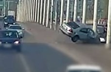 Előkerült egy videó az április elején történt hatalmas balesetről az Árpád hídon