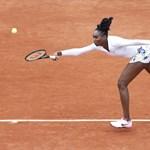 Venus Williams már ki is esett a Roland Garroson