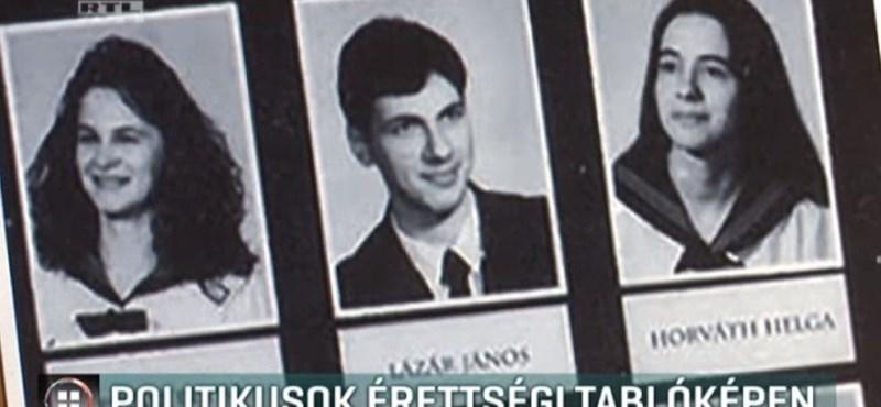Így nézett ki érettségi tablóján Lázár János, Gyurcsány Ferenc és Kövér László