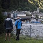 Földcsuszamlás tarolt Svájcban, nyolcan eltűntek – fotók, videók