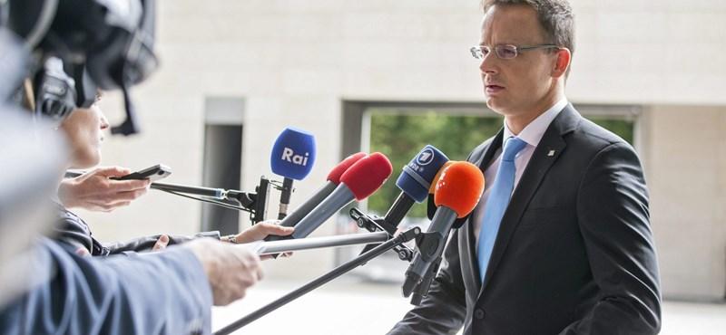 """Szijjártó válaszolt a németeknek: """"A képmutatás Európa-bajnokságát be kell fejezni"""""""