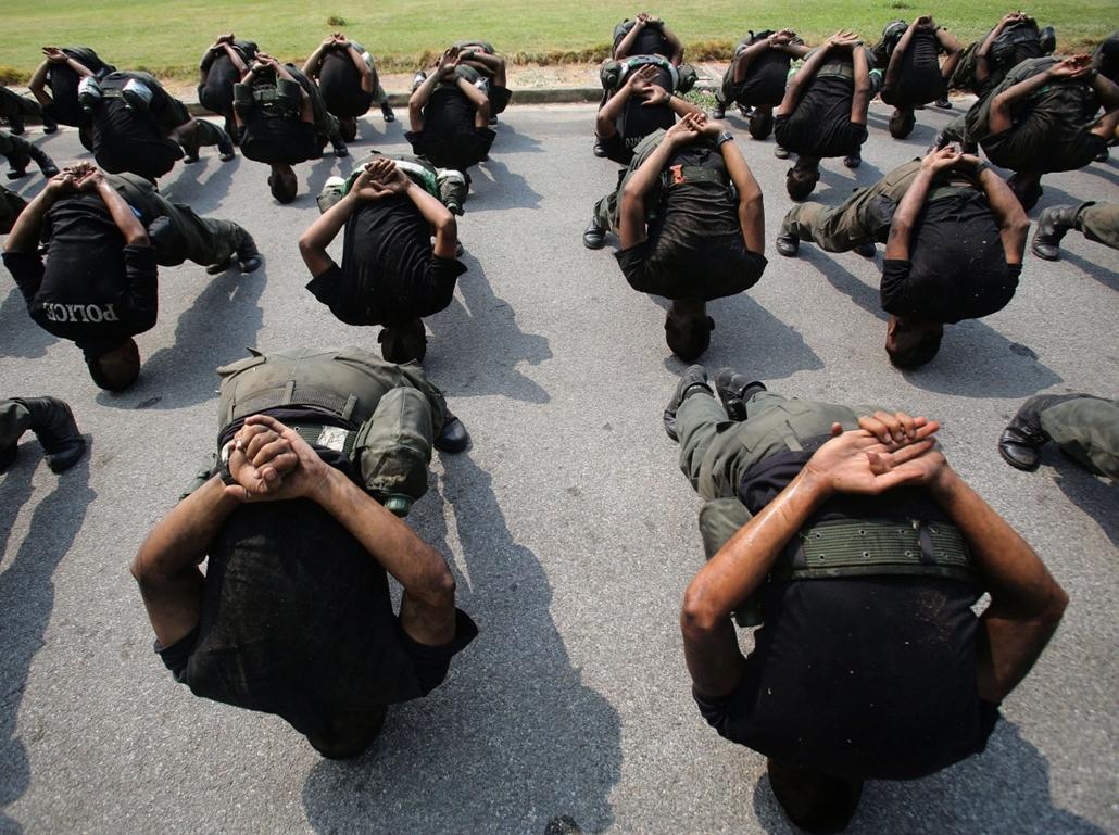 AP! Terrorizmusellenes gyakorlatozás Thaiföldön, Bangkok, 2014.02.26.