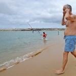 Megint fürdőnadrágban került elő a portugál elnök