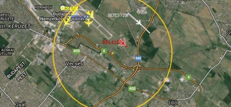 budapest légifolyosó térkép Tech: Itt nézheti meg, mik repkednek éppen Budapest felett   HVG.hu budapest légifolyosó térkép