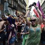 Pride: hölgyfaló vonulók és kamionra mászó ellentüntetők - Nagyítás-fotógaléria