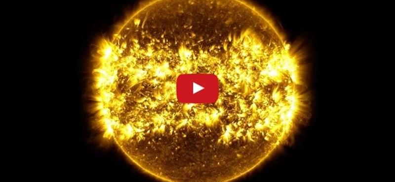 Gyönyörű timelapse-videót készített a NASA a Napról