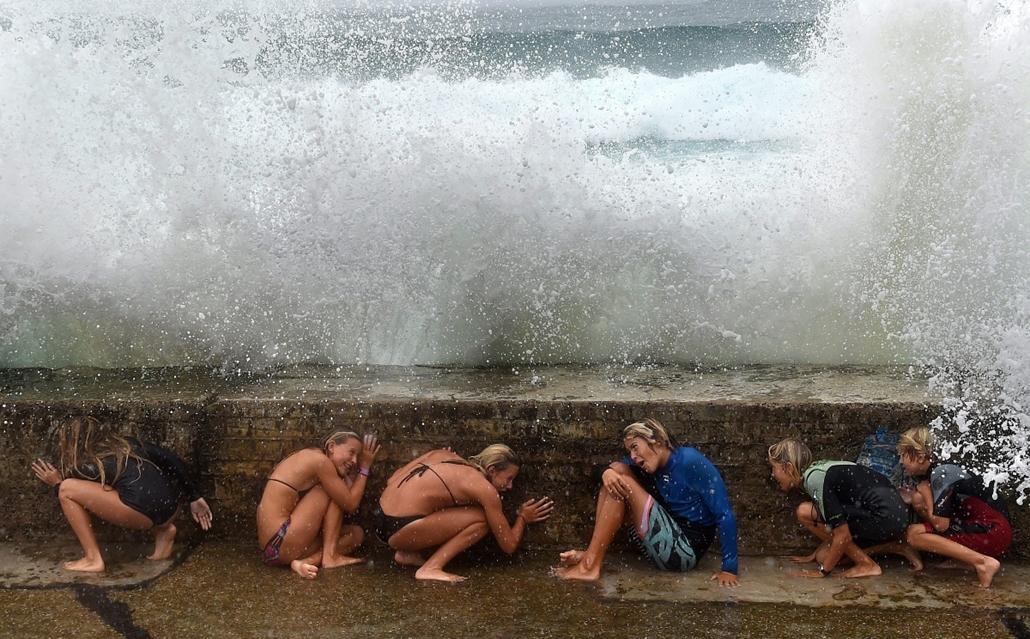 epa.15.02.20. - Gold Coast, Ausztrália: a Marcia ciklon Ausztráliában - 7képei