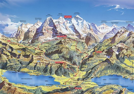 Map-Jungfrauregion