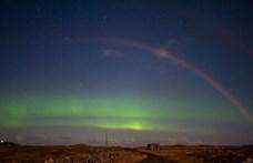 Egy este alakult ki sarki fény és holdszivárvány Skóciában