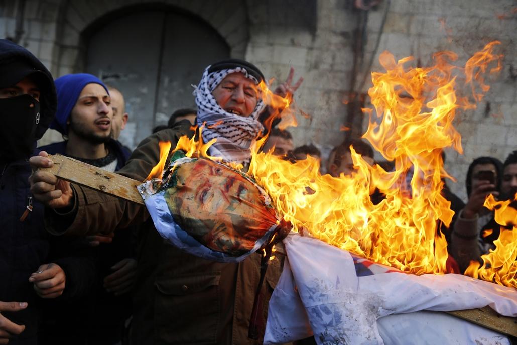 afp.17.12.07. - Jeruzsálem tüntetés jeruzsálem fővárossá avatása miatt