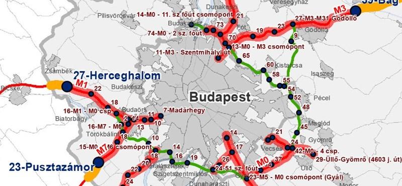 budaörs térkép részletes Autó: Hol válnak fizetőssé az autópályák? Íme a részletes térképek