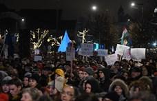 Megmutatjuk egy képen, mennyien voltak a hétfői tüntetésen