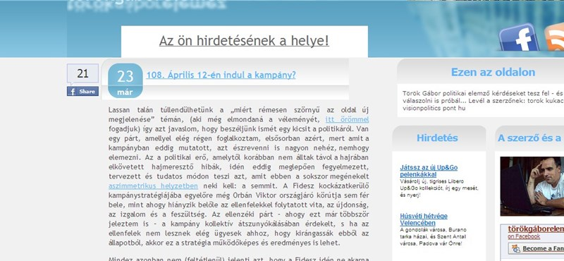 Török Gábor 2009-ből idéz: a kormány feltette a koronát eddigi válságkezelési kudarcára