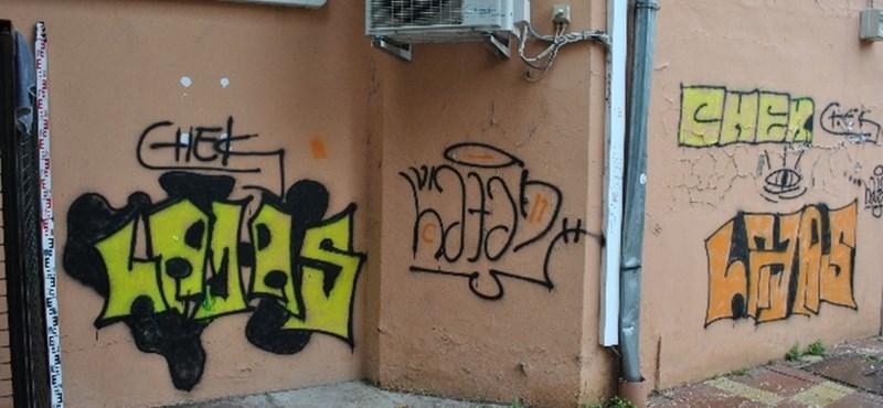 Elkaptak négy fiatalt, akik nagyon csúnya graffitikkel szórták meg Szekszárdot - fotók