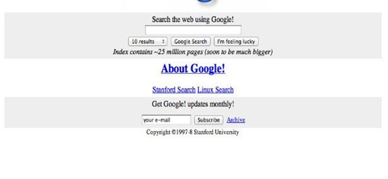 3 nagyvállalat honlapja, amikor még kis cégek voltak