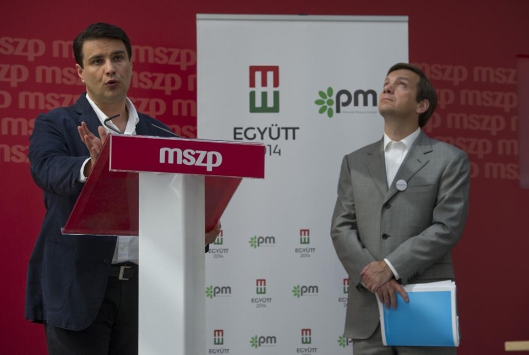 13.07.16. Együtt PM és az MSZP egyeztető tárgyalása az MSZP székházban, Mesterházy Attila és Bajnai Gordon