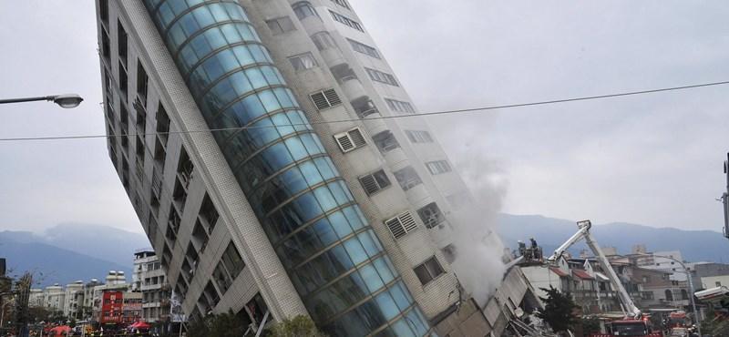 Nőtt a tajvani földrengés halálos áldozatainak száma