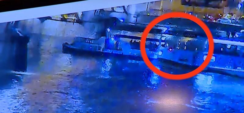 Videón, ahogy felborul a Hableány hajó