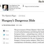 Keményen nekiment az Orbán-kormánynak a New York Times