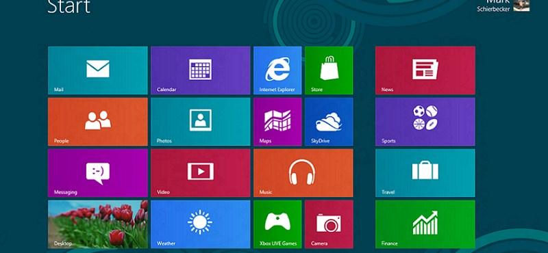 90 napig ingyenesen letölthető a Windows 8 végleges verziója