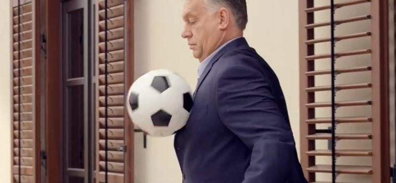 Orbán rábombázza Budapestre – focis videóval üzent a miniszterelnök