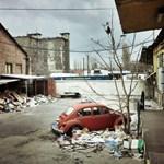 Budapest utcafotó: hajléktalan Volkswagen