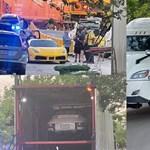 Két Ferrari, egy Bentley és egy Porsche volt egy amerikai kamionban, ami vonattal ütközött