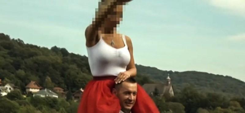Náci karlendítésre emlékeztető mozdulatokat tett esküvőjén a Jobbik elnökének felesége
