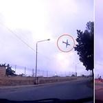 Megrázó videó került elő a tegnapi repülőgép-szerencsétlenségről