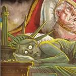 A Szabadság-szobor szoknyája alá nyúl Trump