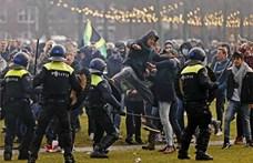A korlátozások ellen tüntettek Amszterdamban