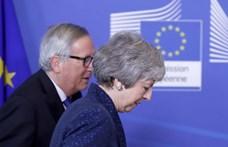 Közös közleményig jutott el May és Juncker, áttörésig nem