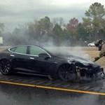Már megint kigyulladt egy Tesla Model S – fotó