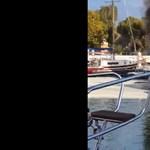 Kigyulladt egy vitorlás a balatonfenyvesi kikötőben