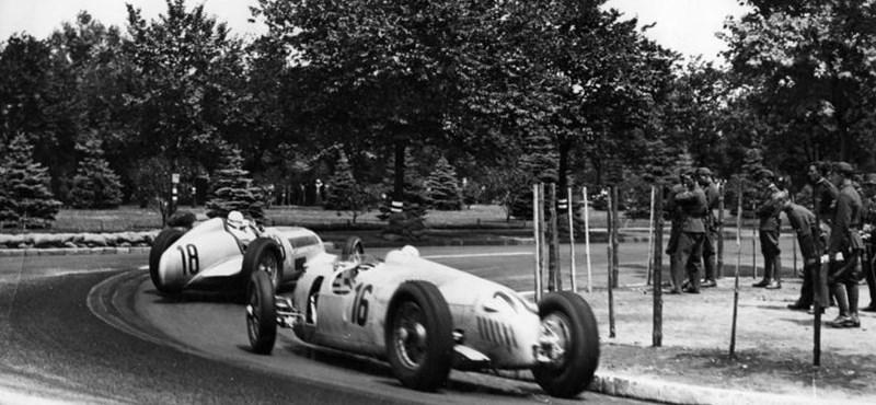 Ferrari és Mercedes a Népligetben, az első Magyar Nagydíj története - videó