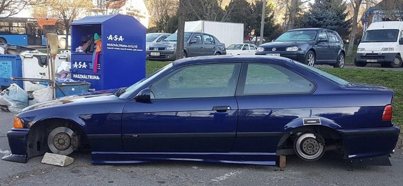Felajánlást tett a spéci BMW tulajdonosa, akinek lelopták a felnit a kocsijáról