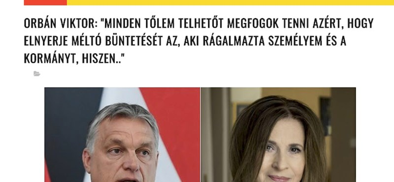 Bicskanyitogató álhír terjed Orbán Viktor és Koncz Zsuzsa nevével, nehogy megossza