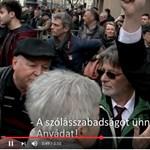 Az ünnep és a szólásszabadság nevében: vér is folyt, ütés is volt a Nemzeti Múzeumnál - videó