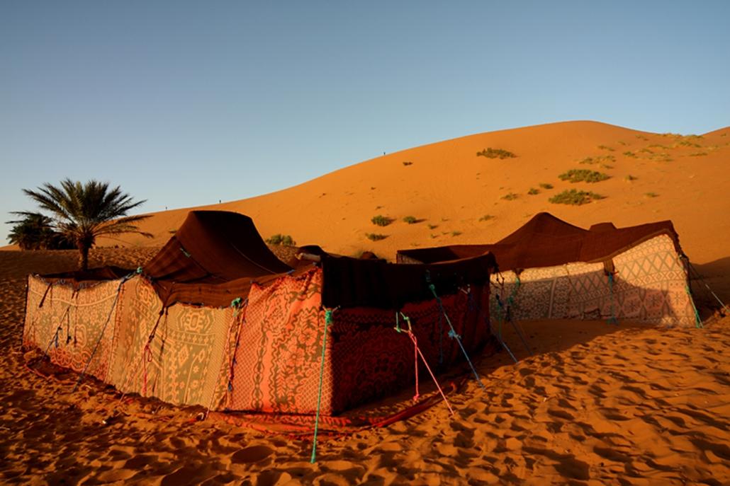 Berber sátrak a Szaharában.