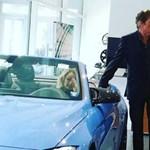 Az egyik legmenőbb BMW-t nézte ki David Hasselhoff