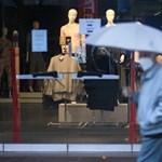 Két számjegyű a visszaesés a boltoknál a lezárások miatt