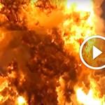 Közeli videón a baleset: így robbant szanaszét tegnap az űrrakéta