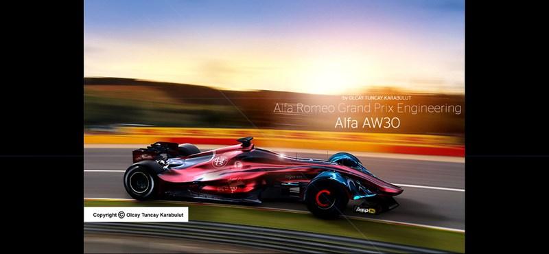 Ilyen lehetne a Forma–1-be visszatérő Alfa Romeo