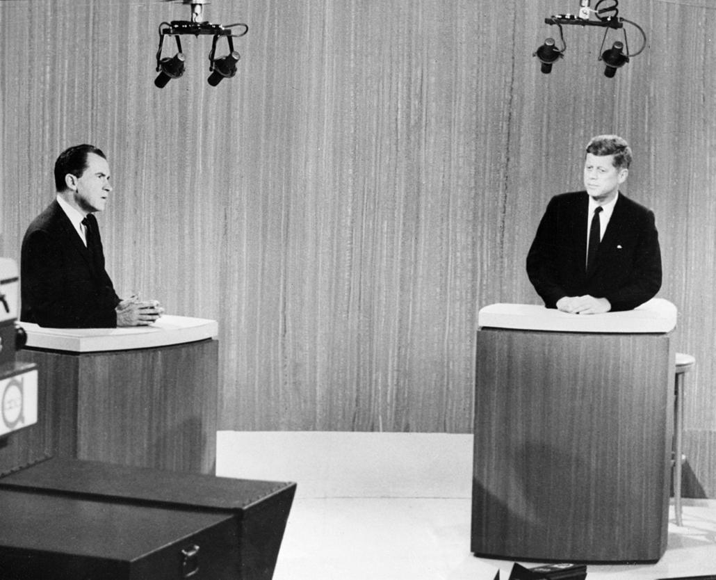 1960.09.26. - Richard Nixon alelnök és John F. Kennedy szenátor utolsó televíziós vitája. - Nixonnagyitas