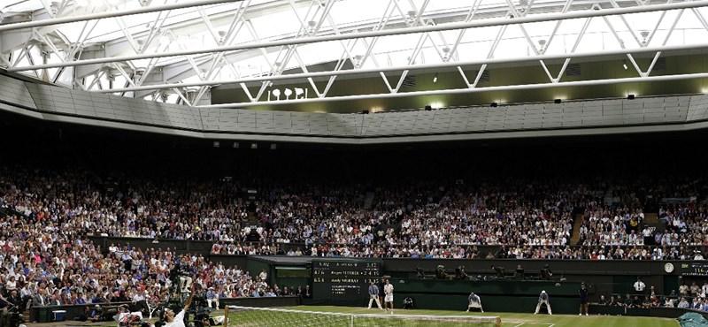 Hullottak a fejek ma is Wimbledonban