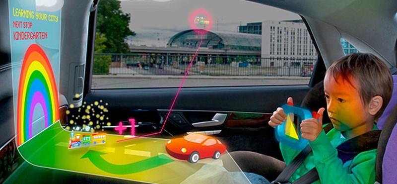 Ez a jövő: holografikus játék a gyerekülés utasának