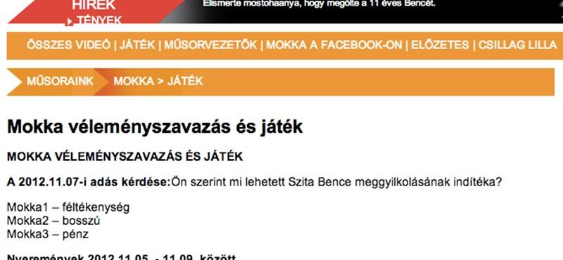 Eltávolították a TV2 honlapjáról a kegyeletsértő játékot