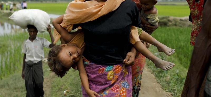 Már a 500 ezren is túl az elüldözött rohingyák száma